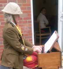 Old Billy legacy harmonium Victoria Mews Carehome Coventry June 2015