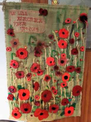 Workshop Birstall Library Craft Group Peace Hanging Poppy enhanced SAM_3175